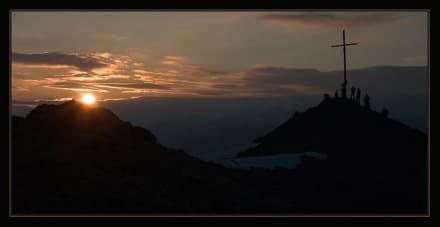 Sonnenuntergang Oberer Sattelkopf - Speckalm