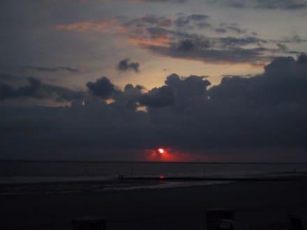 Sonnenuntergang - Strand Borkum