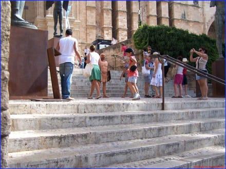 Aufgang zur Kathedrale - Kathedrale La Seu