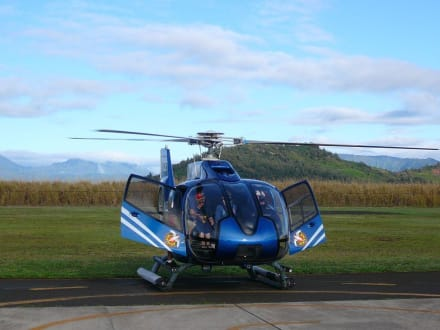 ECO-Star Heli bei den Startvorbereitungen - Helikopter-Rundflug Lihue