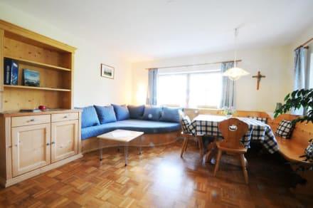 Wohnzimmer in der Ferienwohnung Irmengard. - Wimmerhof Ising