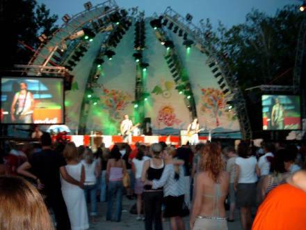 Live-Band am Strand von Siofok - Coca Cola Beach