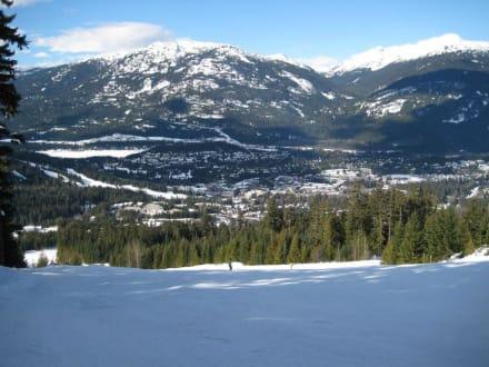 Blackcomb Abfahrt - Blackcomb Skigebiet