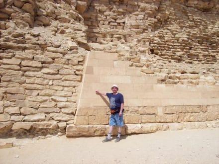 Prüfung des Mauerwerk - Stufenpyramide / Pyramide von Djoser