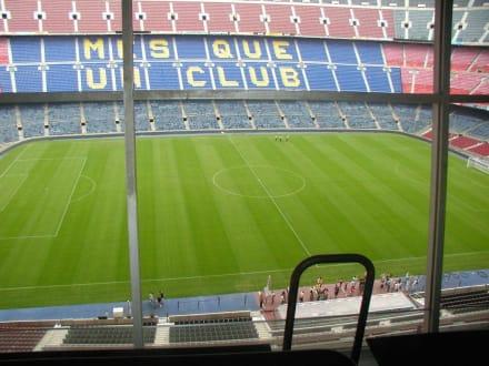 Innenansicht vom Stadion - Camp Nou Stadion