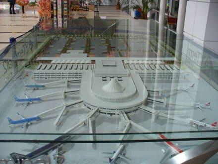 Model vom neuen Terminal  in Antalya - Flughafen Antalya (AYT)