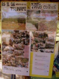 vor dem Policeboat gibt's viele Infos - Polizeiboot 813 - Tsunami Museum