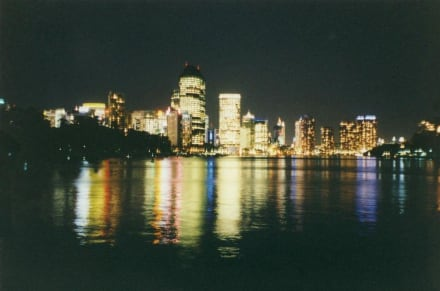 Brisbane bei Nacht - City Skyline