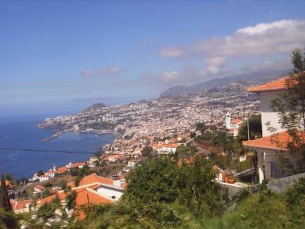 Blick vom Bus auf Funcal - Altstadt Funchal