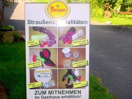 Kleine Karte - Straußenfarm Kaindorf