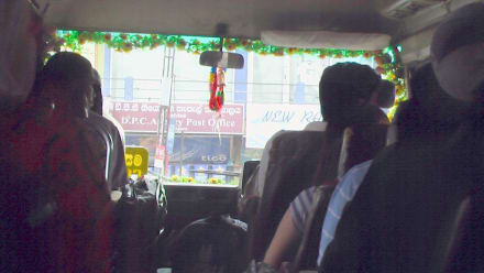 Busfahrt nach Colombo - Transport