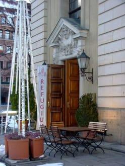 Restaurant Refugium, Eingang - Restaurant Refugium