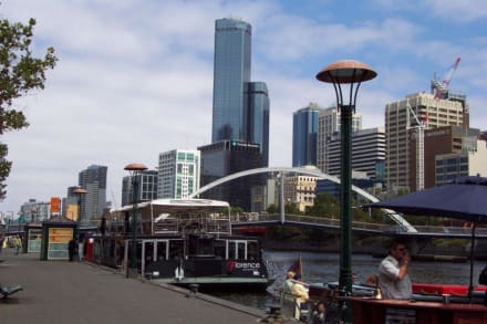 Ablegestelle am Yarra River - Melbourne River Cruises