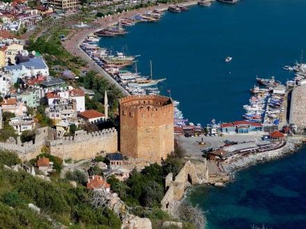 Blick von der Burg auf den Roten Turm - Roter Turm - Kizil Kule