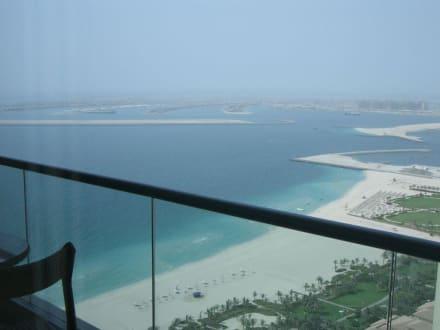 Blick auf die Palme von Oasis Tower - The Palm Jumeirah