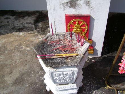 Schale für Räucherstäbchen - Weisser Buddha