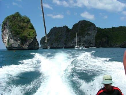 Mit Speedboat nach Phi Phi Island - See Kajak