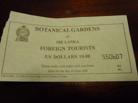 Eintrittspreis Für Den Botanischen Garten Bild Botanischer Garten