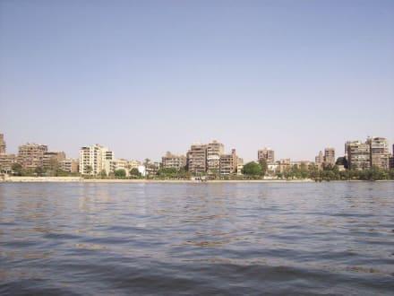 Skyline von Kairo - Bootstour auf dem Nil