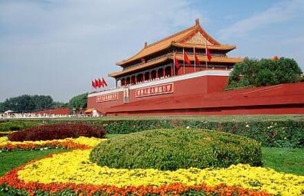 Tor des Himmlischen Friedens - Peking - Platz des himmlischen Friedens
