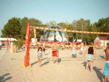 Am Strand von Siofok - Coca Cola Beach