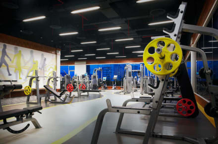 Our large and modern fitness facility. -