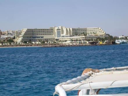Aussicht vom Glasbodenboot nach der Abfahrt - Glasbodenboot Tour Hurghada