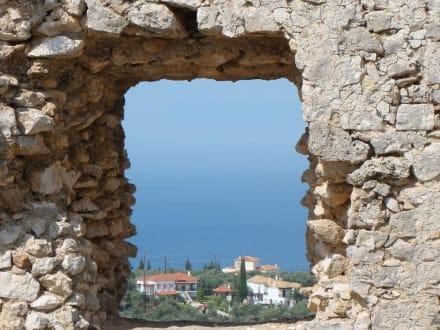 Blick von der Wehranlage - Festung Chlemoutsi