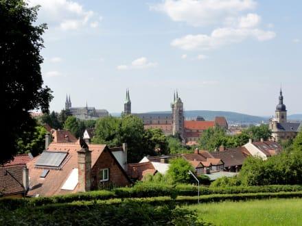 Blick Vom Spezial Keller Uber Die Altstadt Bamberg Bild Biergarten Spezial Keller In Bamberg