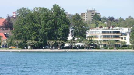 hotel riva vom see aus gesehen bild hotel riva konstanz in konstanz baden w rttemberg. Black Bedroom Furniture Sets. Home Design Ideas
