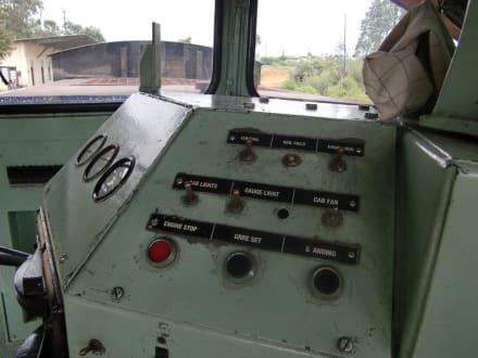 Auf der Lok - Zugfahrt im Hochland