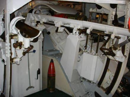Kriegsschiff HMS Belfast Geschützturm - Kriegsschiff HMS Belfast