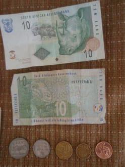 Umtausch: 1 Euro = ca. 12 Rand - Geldwechsel/Banken