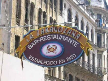 Wenn ihr dieses Schild findet seid ihr dort - La Zaragozana