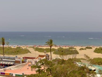 Aussicht zum Strand - Shoppingcenter Boulevard El Faro