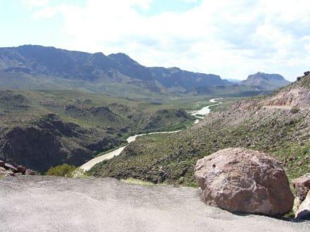 Blick auf den Rio Grande - Big Bend Nationalpark