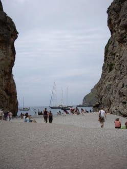 Torrente de Pareis,  Blick Richtung Meer - Bucht Sa Calobra / Torrent de Pareis