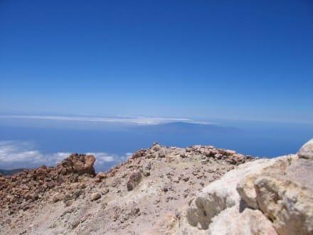 Blick vom Teide auf La Gomera - Teide Nationalpark