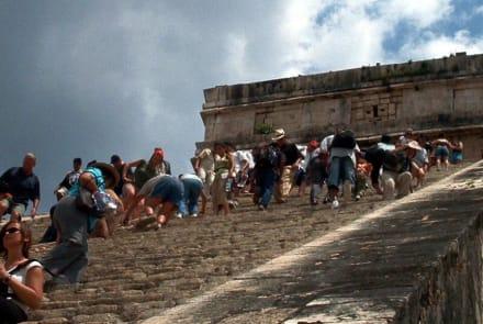 91 Stufen, 30 Meter hoch - Ruine Chichén Itzá