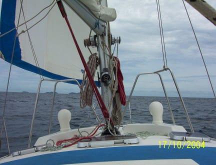 Fahrt mit dem Segelboot zur Insel Los Frailes - Segeltour Isla de Coche-Isla Los Frailes