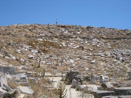 Ruinen des Theaters (mittlerer Bereich) - Insel Delos