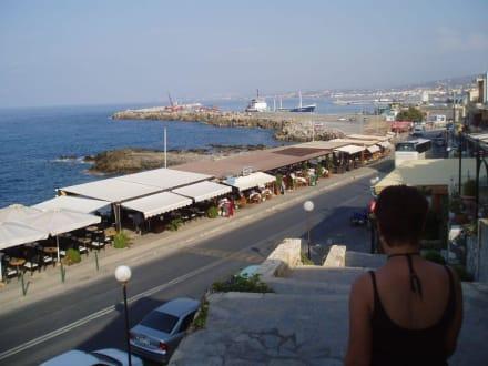 Blick von der Burg in Richtung Hafen - Festung von Rethymno