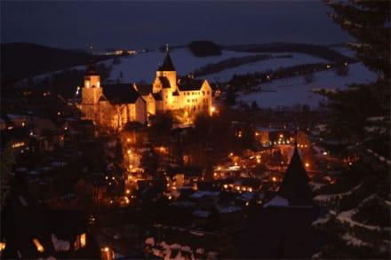 Schwarzenberg bei Nacht - Schloss Schwarzenberg