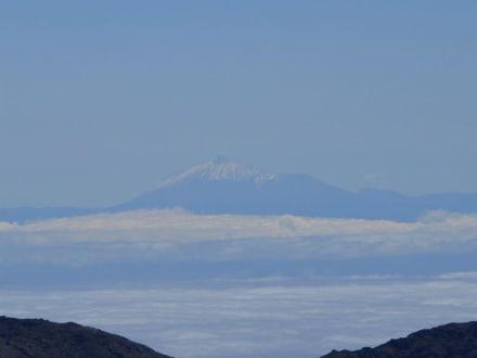 Aussicht vom Observatorium Richtung Teide - Vulkane San Antonio und Teneguía