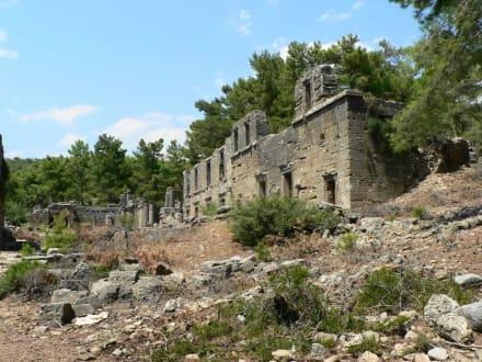 Vor der Agora - Antike Stadt Seleikeia (Lyrbe)