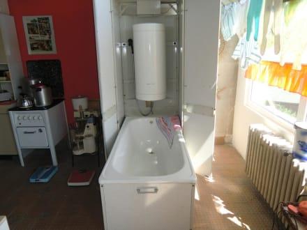 Wer kein Bad hatte, hier die Lösung in der Küche - DDR Museum Thale