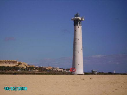 Faro Jandia mit Sylt Flagge - Strand Jandia