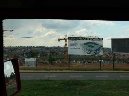 Baustelle des WM Stadions in Soweto - Soweto