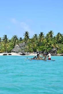 Fischer vor der Barcadi Insel  - RH Tours Ausflüge Punta Cana