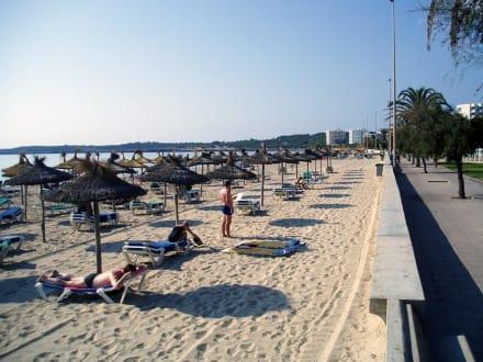 Sonnenschirme am Strand von Cala Millor - Strand Cala Millor